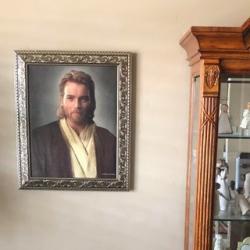 A ManGave His Mormon Parents a Picture of Obi-Wan Kenobi (But Said It's Jesus)