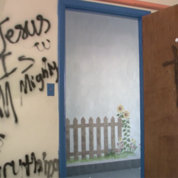 Hindu Temple in Kentucky Vandalized with Crosses and Christian Hate Speech