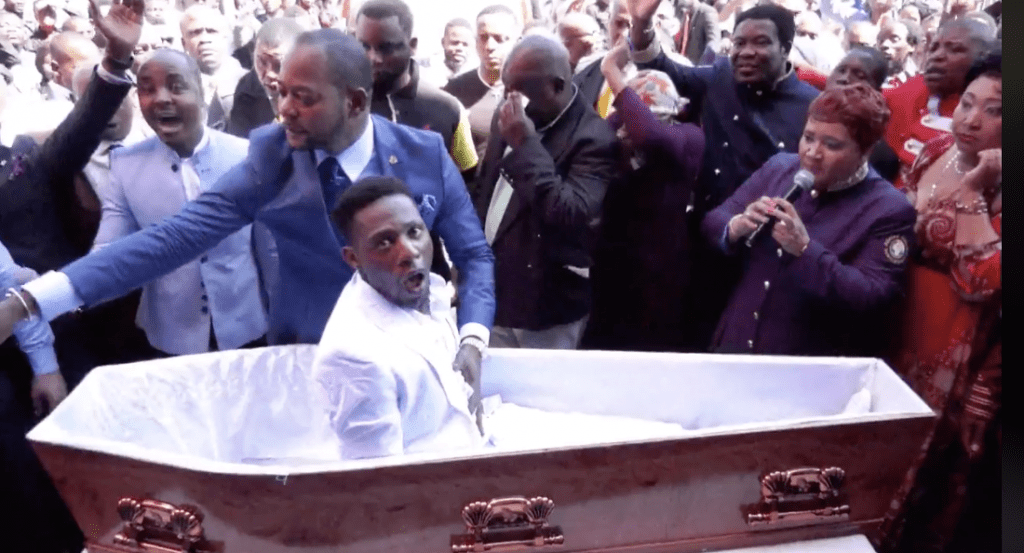 Video Shows a South African Preacher Pretending to Bring a