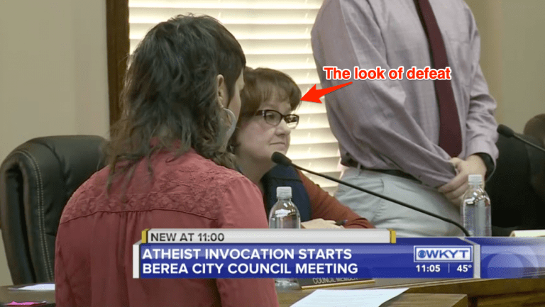 Atheist's Invocation in Berea, KY Generates Several Divisive Public Comments