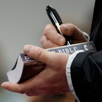 More White Evangelicals Than Not Say It's Inappropriate for Trump to Sign Bibles