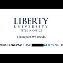 "Liberty U. to Students Reporting Title IX Violations: ""You Report. We Decide."""