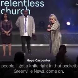 "Megachurch Pastor Threatens Local Newspaper During Sermon: ""I Cut People"""