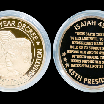 Christian Preacher Sells $45 Coin Depicting Trump and the Biblical King Cyrus
