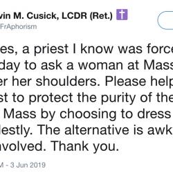 "After Backlash for Misogynistic Tweet, Catholic Priest Blames ""Demonic"" Twitter"
