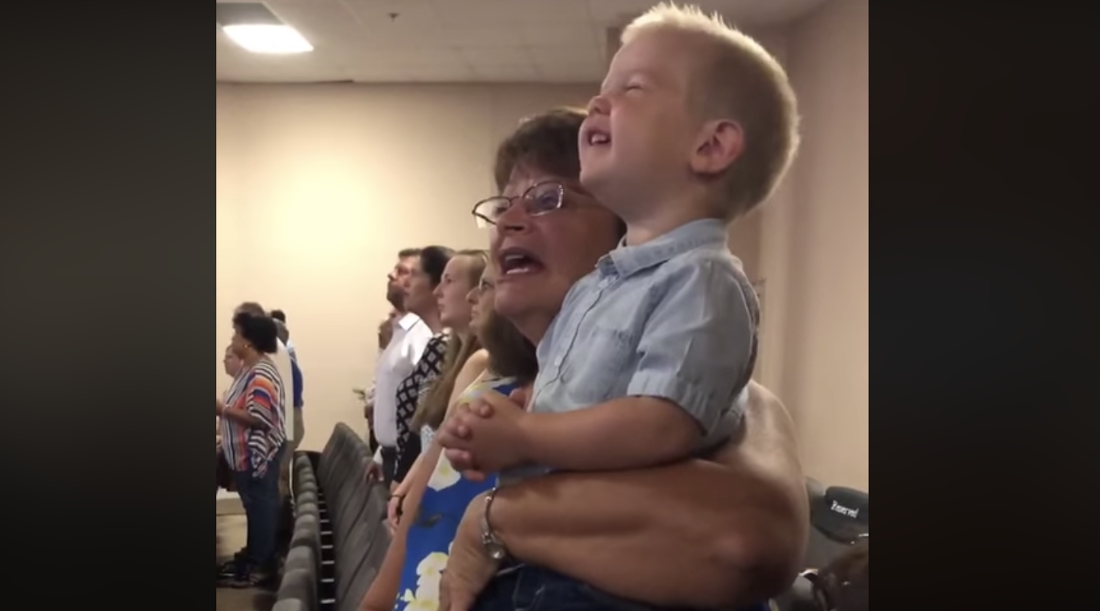 "For Some Reason, Christians Are Praising a Toddler for His ""Worship"" in Church"