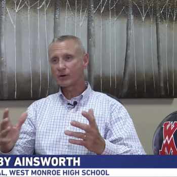 "LA Principal Praises ""In God We Trust"" Sign Since We're in ""a Christian Nation"""
