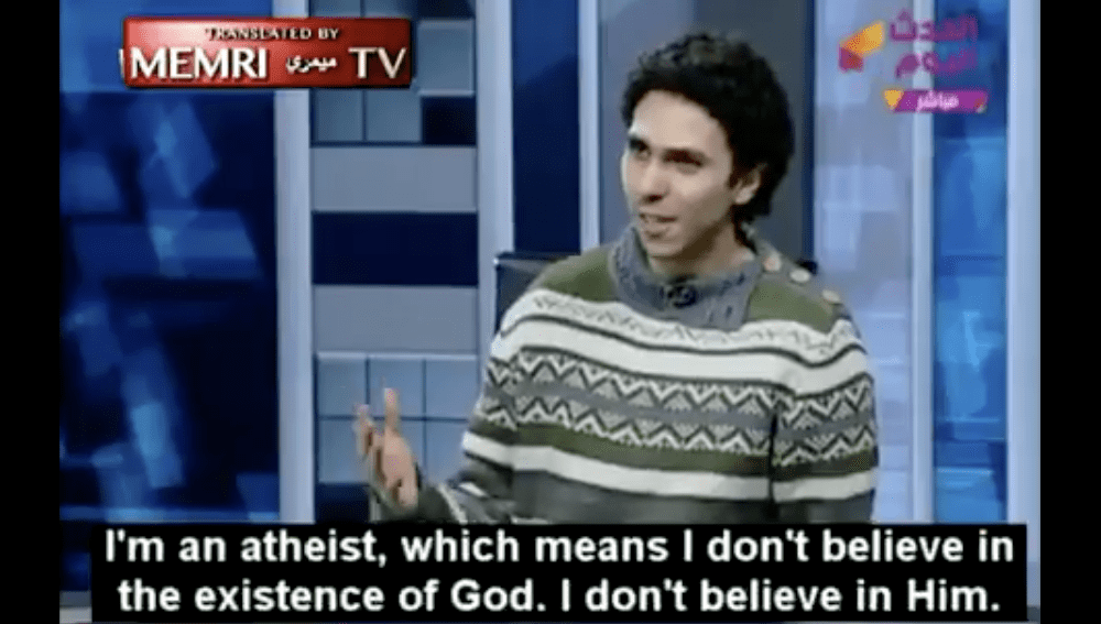 Atheist Kicked Off Egyptian TV Show Now Says He's Safely in Another Country