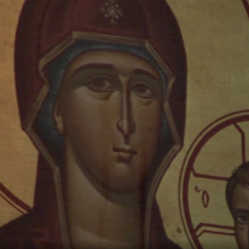 """Worshipers in Chicago Think This Virgin Mary Painting is """"Weeping"""" Healing Oils"""