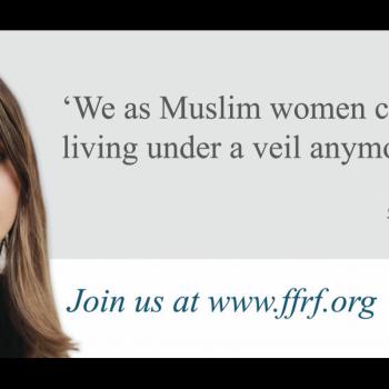 """Atheist Billboard Urges Muslim Women to Stop """"Living Under a Veil"""""""