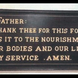 A Virginia School's Cafeteria Sign Urges Students to Thank God for Their Food