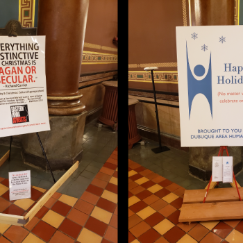 Atheists Won Seven of the Eight Holiday Display Slots in the Iowa Capitol