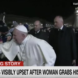 Pope Francis Apologizes for Smacking Hand of Woman Who Grabbed Him