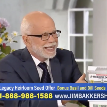 """Jim Bakker, Unable to Sell Virus """"Cure,"""" Promotes """"Make Your Own Medicine"""" Plant"""