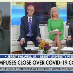 """Falwell Won't Close Liberty U., Says COVID-19 Is Just an """"Attempt to Get Trump"""""""