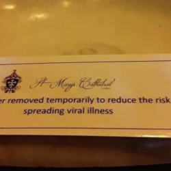 Catholic Churches Are Removing Holy Water Out of Fear of Spreading Coronavirus