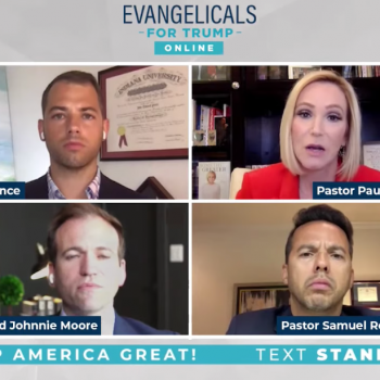 """""""Evangelicals for Trump"""" Say, Falsely, Democrats Are a """"Party of [the] Godless"""""""
