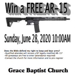 Church in New York Holds Another Gun Giveaway; the Mystique of the AR-15 Endures