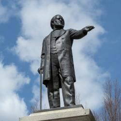 A Statue of Racist Mormon Brigham Young Was Vandalized at Brigham Young Univ.