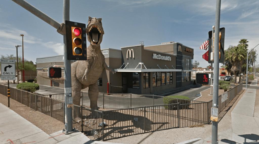 "Christians Against Dinosaurs"" Target Arizona McDonald's T. rex"