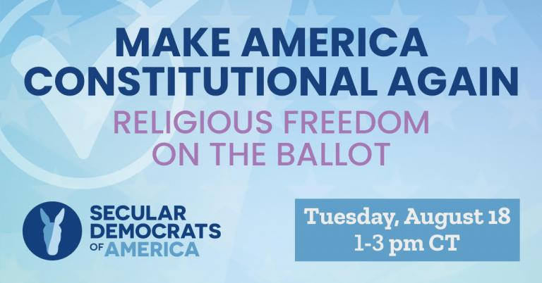 Secular Democrats of America Plans to Mobilize Non ...