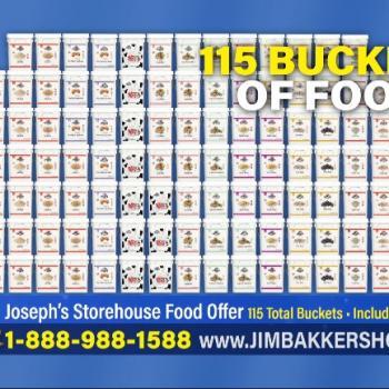 Televangelist Jim Bakker is Now Selling 115 Giant Buckets of Food for $10,000