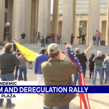 Tens of People Attend Christian Rally Against COVID Restrictions in Nashville