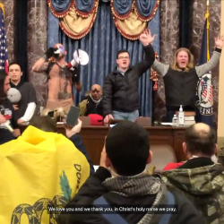 There's Video of Christian Terrorists Praying to God Inside the U.S. Capitol