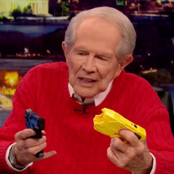 Even Pat Robertson Can't Believe a Cop Could Confuse a Taser and a Gun