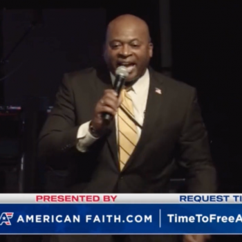 """Pastor to Pro-Conspiracy Crowd: """"Trump Gave His Life to the Lord Jesus Christ"""""""