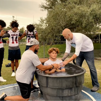 """This HS Football Chaplain Bragged About Baptizing Athletes """"During School Hours"""""""