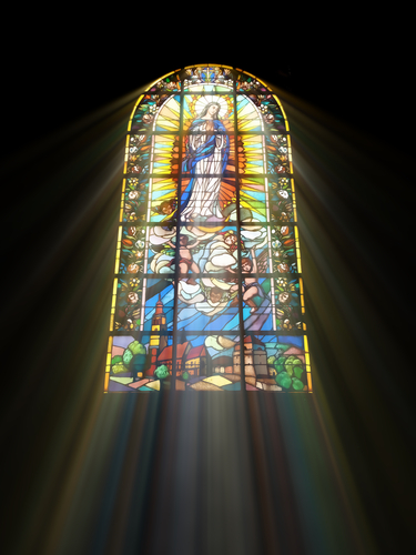 Why Are Stained-Glass Windows with Religious References Up